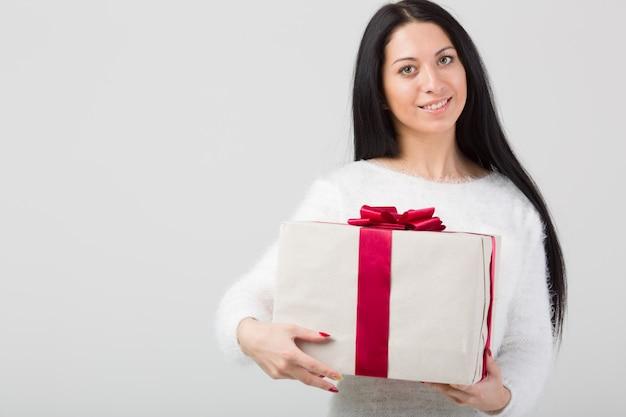 San valentino del contenitore di regalo della stretta della donna