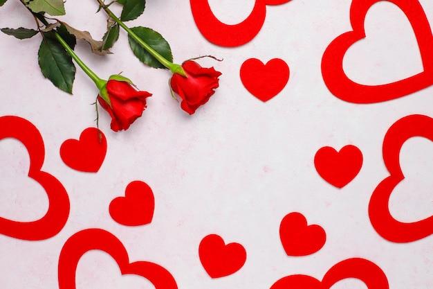 San valentino sfondo, carta di san valentino con rose