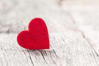 San Valentino sfondo con il cuore. Messa a fuoco selettiva
