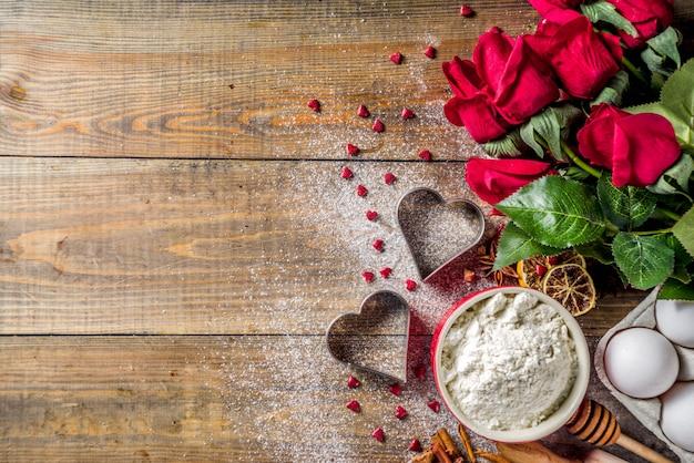 San valentino sfondo di cottura