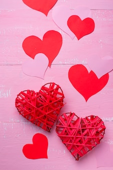 San valentino sfondo su rosa