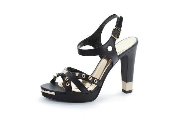 Sandali con tacco alti femminili isolati su bianco