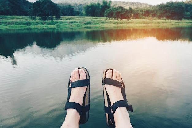 Sandali in vacanza.