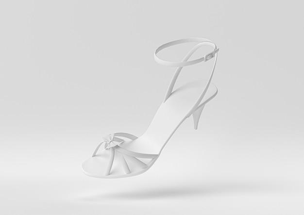 Sandalo bianco. 3d rendono, illustrazione 3d.