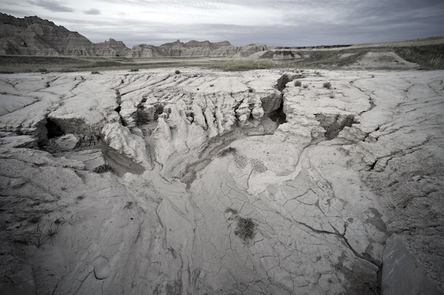 Sandy badlands