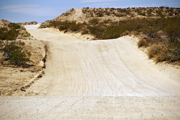 Sandy desert road