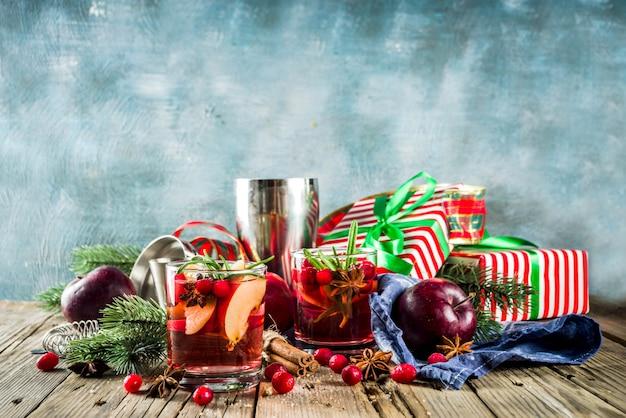 Sangria cocktail invernale caldo