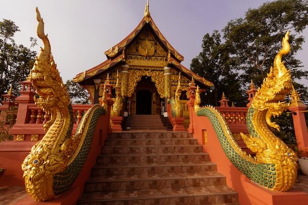 Santuario o chiesa e bella statua del naga