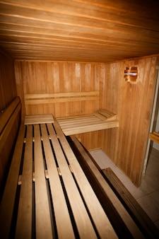 Sauna privata in un centro benessere