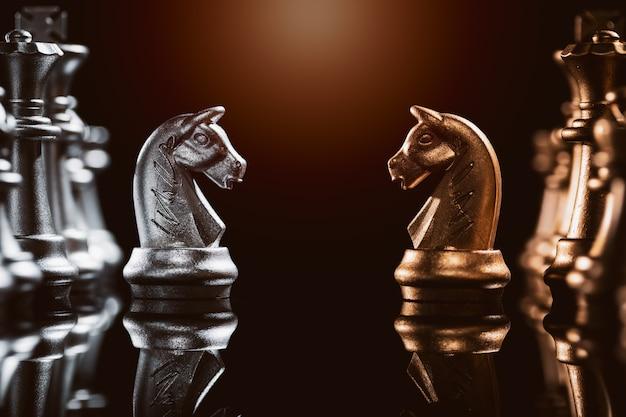 Scacchi cavalieri di leadership aziendale