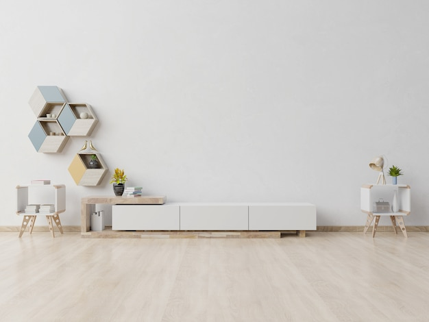 Scaffale tv nella moderna stanza vuota