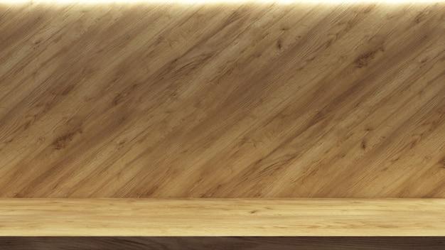 Scaffale vuoto realistico per il design della promozione. sfondo dello spazio di presentazione. stand espositivo vuoto.