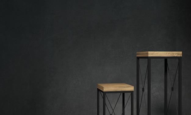 Scaffali per stand di arredamento loft