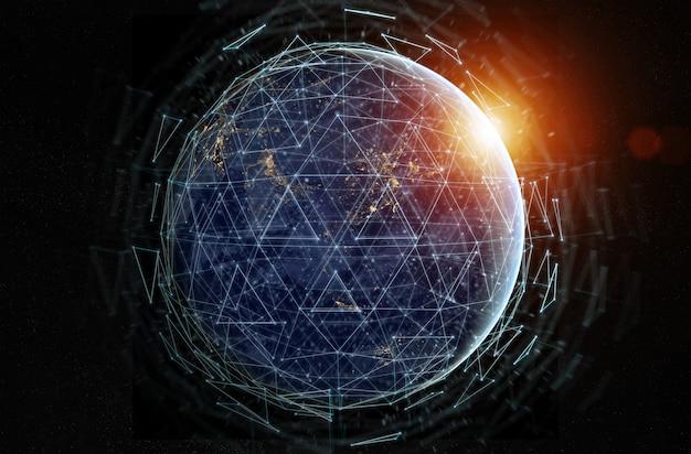 Scambi di dati globali e sistema di connessioni in tutto il mondo