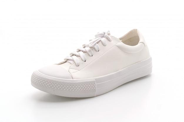 Scarpe da ginnastica bianche su bianco