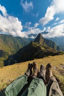 Scarpe da trekking a machu picchu, perù