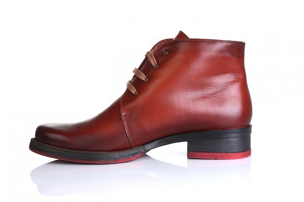 Scarpe in pelle rosso arancio uomo donna