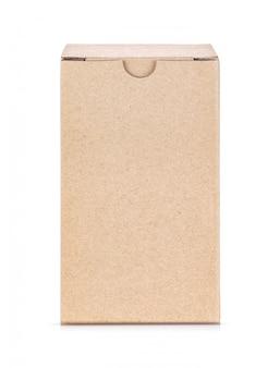 Scatola di carta kraft isolata on white