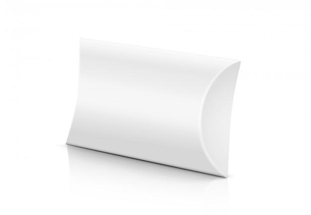 Scatola di cartoncino bianco con barra di sapone