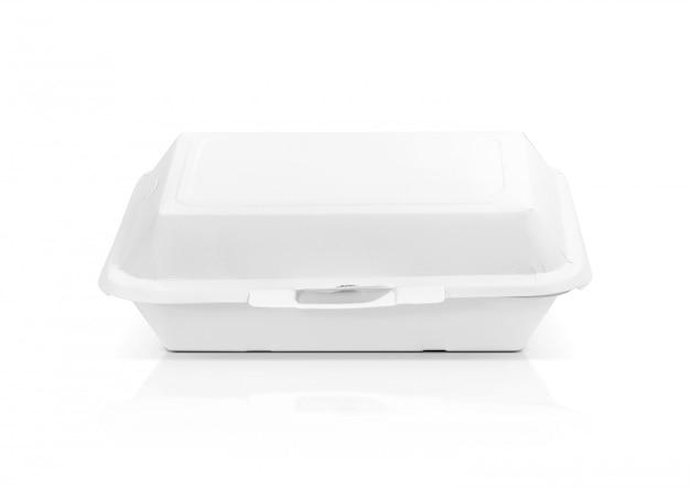 Scatola di cibo di carta riciclata imballaggio vuoto per pasto isolato