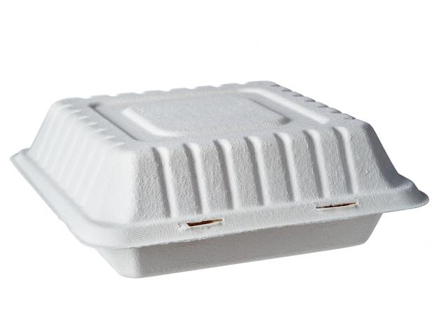 Scatola di pranzo di cartone isolata