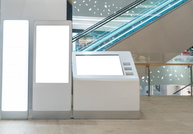 Scatola luminosa con centro commerciale di lusso