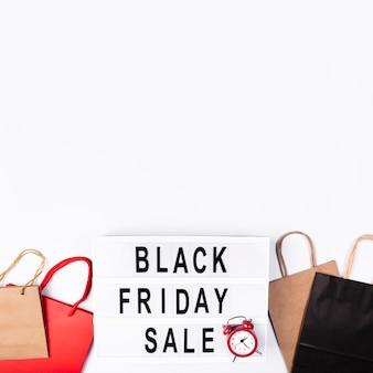 Scatola nera di vendita di venerdì con sveglia