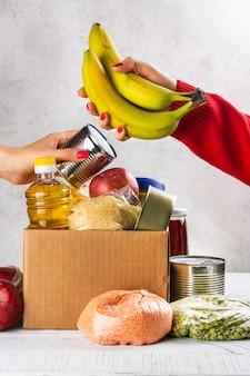 Scatola per donazioni alimentari