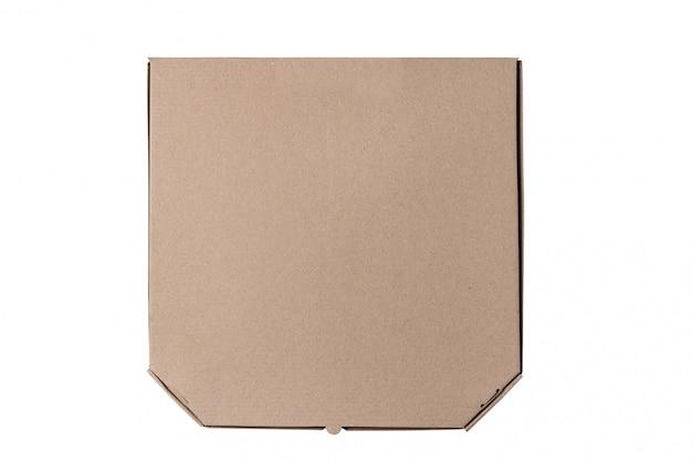 Scatola per pizza in cartone, isolato.