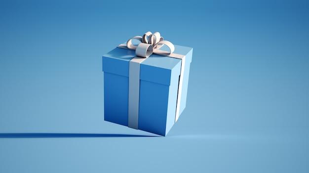 Scatola regalo blu e bianco