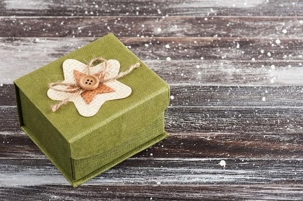Scatola regalo fai da te gren