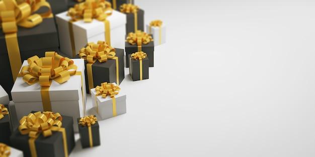 Scatole regalo di un banner di celebrazione