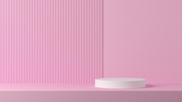 Scena astratta per esposizione del prodotto. rendering 3d