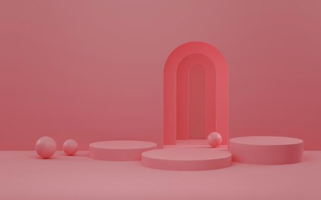 Scena astratta per la rappresentazione dell'esposizione 3d del prodotto.