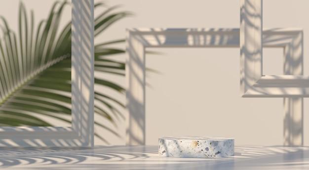 Scena astratta. podio di geometria forma sfondo per il prodotto