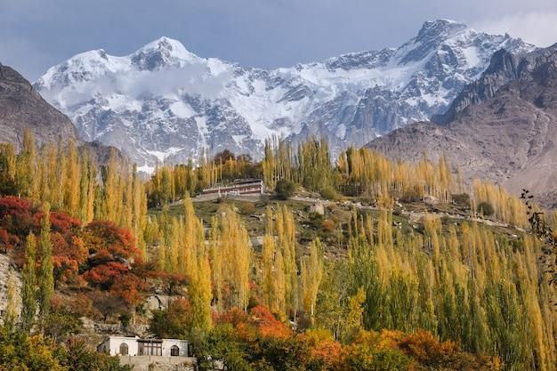 Scena autunnale nella valle di hunza. gilgit-baltistan, pakistan.