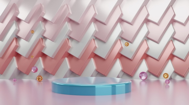 Scena del podio geometrico 3d per la visualizzazione del prodotto.