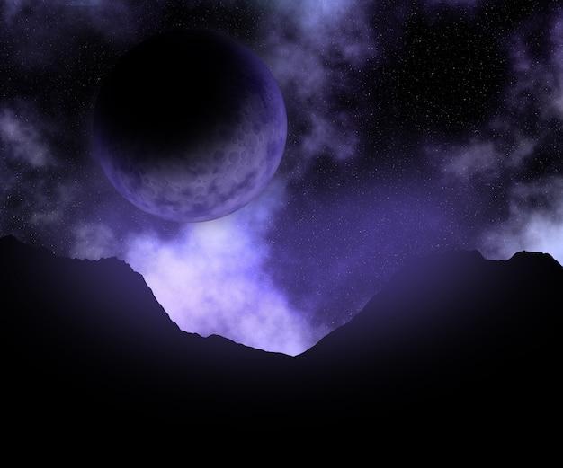 Scena dello spazio astratto 3d