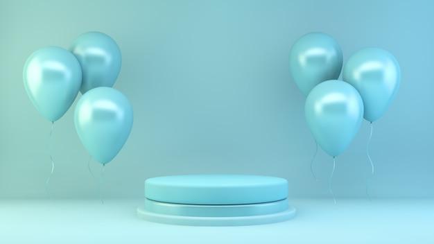 Scena di presentazione del prodotto blu
