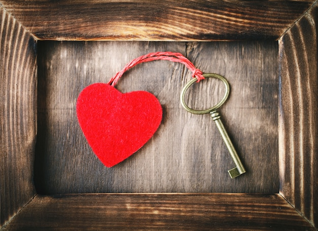Scena di san valentino con elementi d'amore