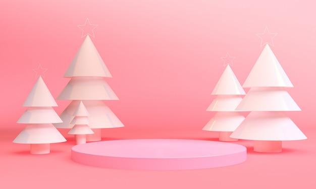 Scena di temi geometrici minimalista di natale