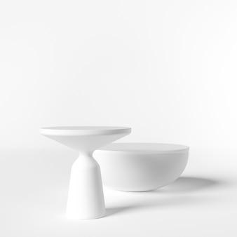 Scena minimale con forme geometriche. scena per mostrare il prodotto cosmetico,