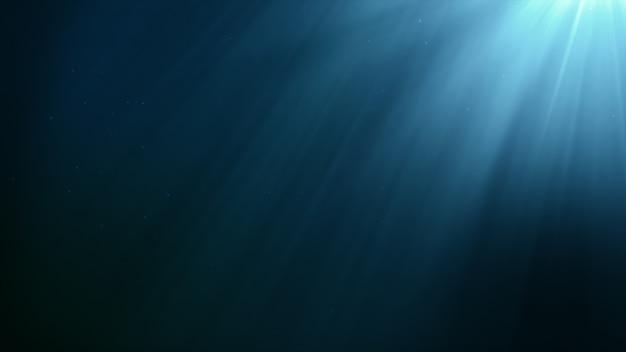 Scena subacquea con raggio di sole