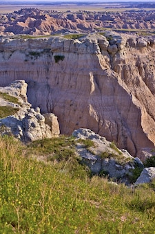 Scenic badlands area