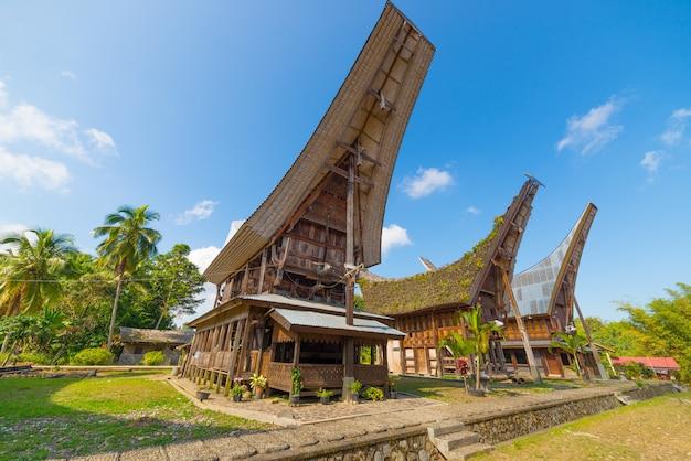 Scenic villaggio tradizionale a tana toraja