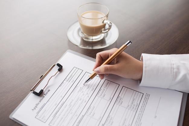Scheda adulta informazioni di reclutamento candidato