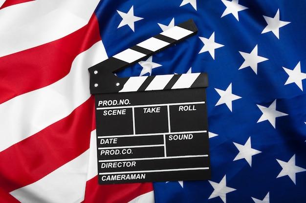 Scheda batacchio film con bandiera usa