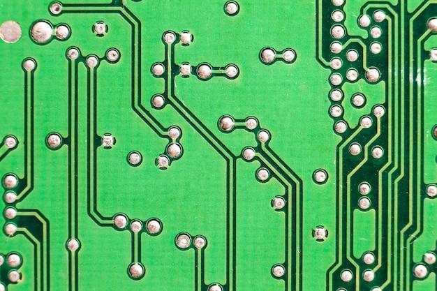 Scheda di circuito. tecnologia hardware per computer elettronico. chip digitale della scheda madre. sfondo di scienza tecnologica.