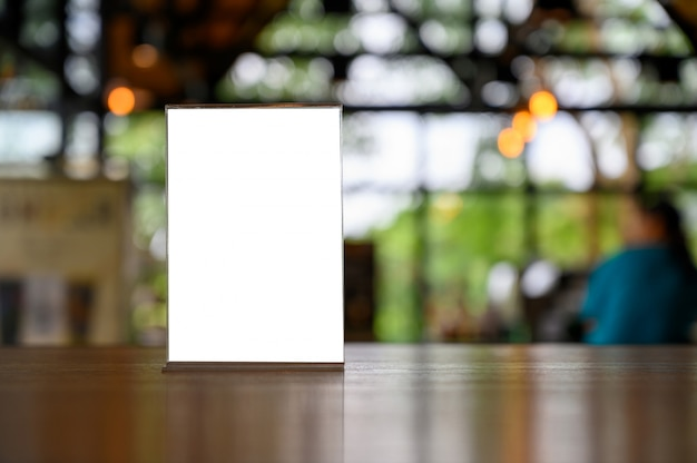 Scheda tenda telaio menu