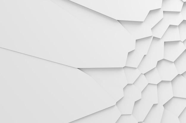 Schema tridimensionale del dissezionato in molti singoli elementi della superficie